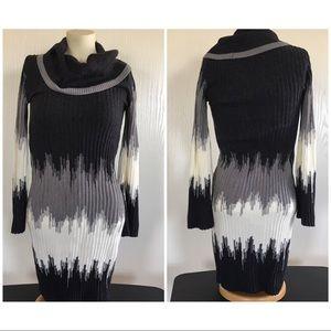 Sandra Darren cowl neck sweater dress SML